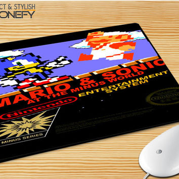Super Mario Bros And Sonic Mousepad Mouse Pad|iPhonefy