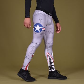 War Shark Metal Tights for men