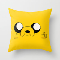 COOL MAN Throw Pillow by Sara Eshak