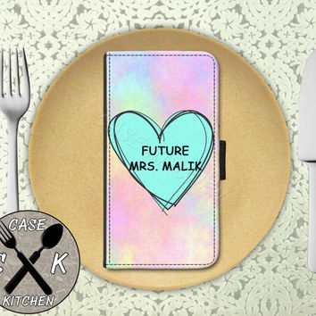 Future Mrs. Malik Pastel Tumblr Candy Heart Cute Wallet Phone Case For iPhone 4 and 4s and iPhone 5 and 5s and 5c and iPhone 6 and 6 Plus