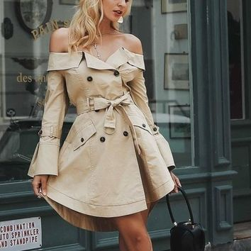 Trench Coat Dress,Awesome, All sizes!