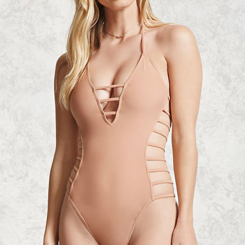 Caged Halter One-Piece