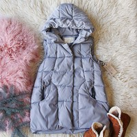 Snowy Seattle Vest in Gray