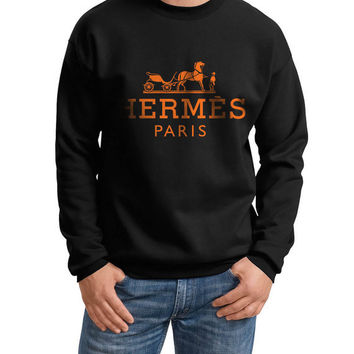 Hermes Paris Crewneck Sweatshirt  S to 2XL