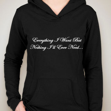 "One Direction ""Everything I Want But Nothing I'll Ever Need / Liam Payne Tattoo"" Unisex Adult Hoodie Sweatshirt"