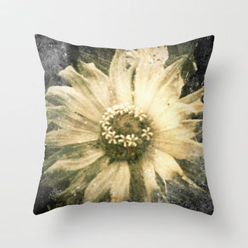 A Flower Throw Pillow by Stacy Frett