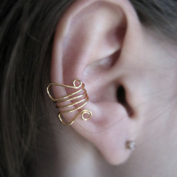 Dainty Doodler Ear Cuff by Artistieke on Etsy