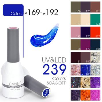 2017 New Fashion CANNI brand 15ml Gel Lacquer Soak off UV LED Color Nail Art Manicure Paint Nails Gel Polish Gel Vernish lacquer