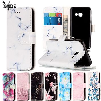Leather Flip For Capa Samsung Galaxy A3 2017 Phone Cases Samsung Galaxy A3 2017 Wallet Case For Samsung A3 2017 Cover Case