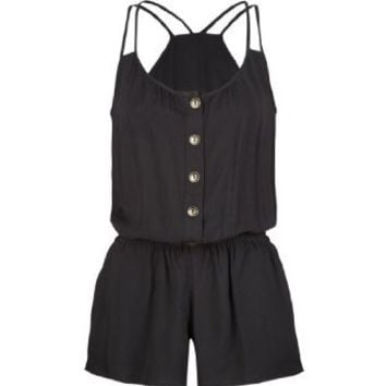 Amazon.com: FULL TILT Button Front Womens Romper: Clothing