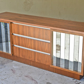 Awesome Walnut and Mirror Credenza / Dresser