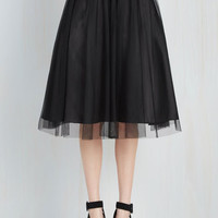 Full Pointe of View Skirt in Black by ModCloth