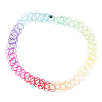Rainbow Tattoo Choker