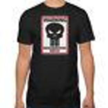 Marvel Punisher Frank Castle's Neighborhood Watch Adult T-Shirt - Black