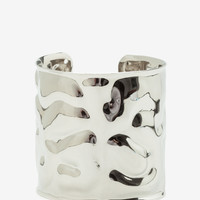 Irregular Pounded Metal Cuff