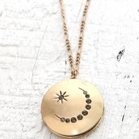 With Love From CA Moon & Stars Locket Necklace - Womens Jewelry - Gold - One