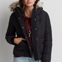 AEO Long Parka , Chalk | American Eagle Outfitters
