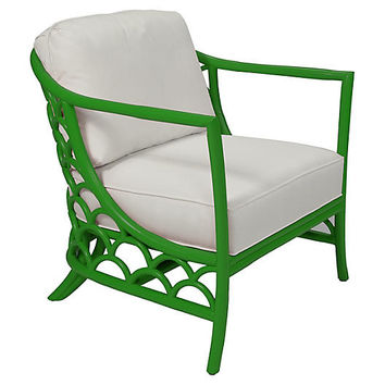 Koi Accent Chair, Bright Green - Accent Chairs - Chairs - Living Room - Furniture | One Kings Lane