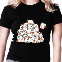 League Of Legends Poros If Womens T Shirts Black And White