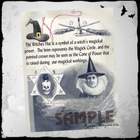 THE WITCH'S HAT, Digital Download,  Book of Shadows Page, Grimoire, Scrapbook, Spells