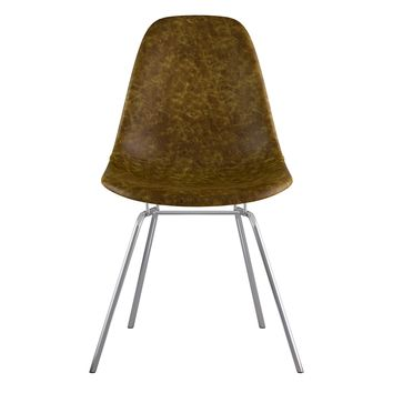 Mid Century Classroom Side Chair  Palermo Olive