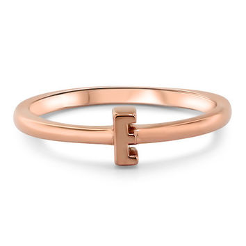 Personalized Initial Stackable Ring