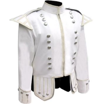 PIPER DRUMMER WHITE COTTON SUMMER DOUBLET