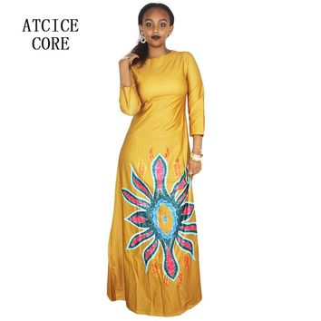 African dresses for women new african fashion design dashiki  dress for lady free size