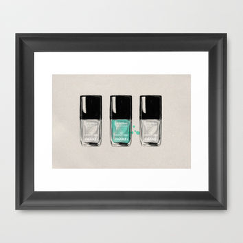 CHANEL NAIL POLISH Framed Art Print by judith van den hoek