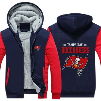 NFL American football Men's winter casual jacket Warm thicken hoodies Tampa Bay Buccaneers