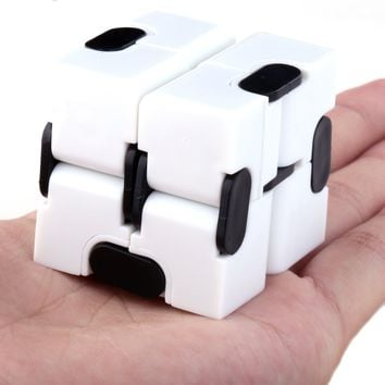 DIY Creations Infinity Cube Set Fidget Toy Anti-Anxiety Stress Relief Value Pack of 2 Pieces Black White
