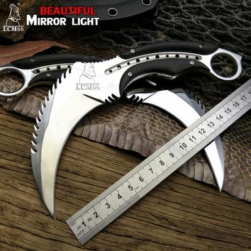 Fixed Blade Karambit | Outdoor, camping, survival, hunting, self defense, tactical knife