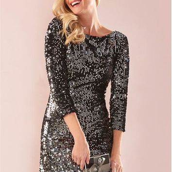 Black Sequin Dress Charlie Paige