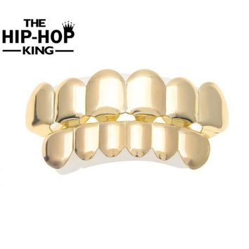 ac DCCKO2Q Hip Hop Teeth Grillz For Caps Top & Bottom Grillz Set vampire teeth for Halloween Christmas Party Gift