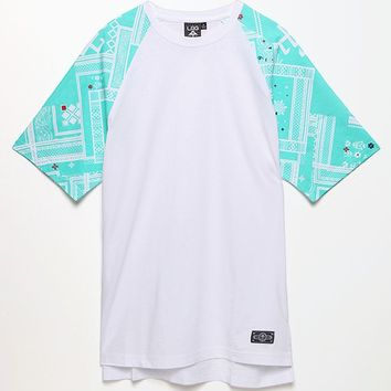 LRG Borracho Longline Knit T-Shirt - Mens Tee - White