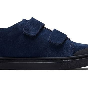 TOMS - Youth Lenny Mid Double Strap Navy Suede Sneakers