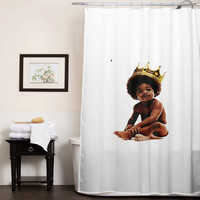 Big notorious  big biggie smalls custom shower curtain