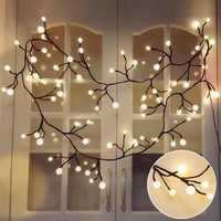 Globe Decorative String Lights,BaiYunPOY 8.3Ft 72 LED Hanging Indoor/Outdoor String Lights for Garden,Xmas Party,Bedroom,Dorm,Window Curtain Backyard,Party,Wedding(Warm White)