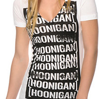 Hoonigan Stamp Repeat V-Neck T-Shirt
