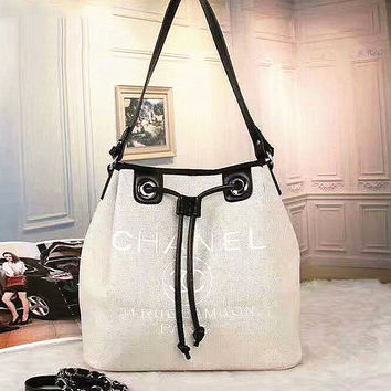 Chanel  Women Leather Shoulder Bag Tote Satchel Handbag  G-GDBBWJFH