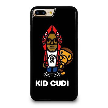 kid cudi bape shark iphone 4 4s 5 5s se 5c 6 6s 7 8 plus x case  number 1