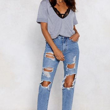 School Day Distressed Jeans