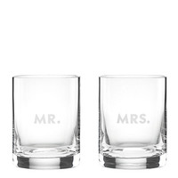 Kate Spade Darling Point Mr. And Mrs. Dof Set Clear ONE