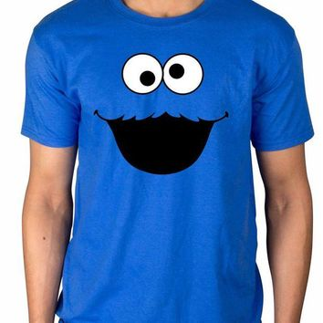 DCCKH6B Official Sesame Street Cookie Monster T-Shirt Elmo Early Bird Grover Ernie Oscar 3D Men Hot Cheap Short Sleeve Male T Shirt