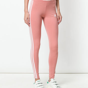Adidas Logo Stripe Leggings - Farfetch