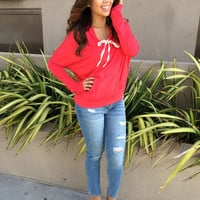 Chill Time Hoodie - Red | Fashion Nova