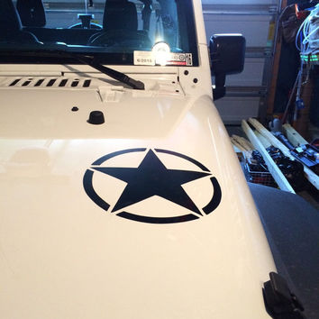 Military Star Vehicle Decal, Fully Personalized Vehicle Decal
