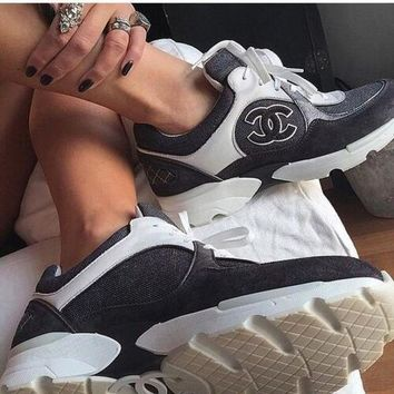 CHANEL Fashion Logo Breathable Running Sneakers Sport Shoes