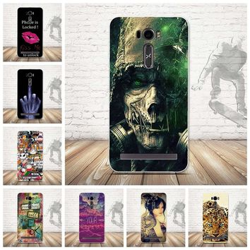 for Asus Zenfone 2 Laser ZE601KL Phone Case Cover 3D Printed Cartoon Mobile phone Shell Silicon Soft TPU Phone Back Cover