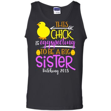 Funny Easter Pregnancy Announcement T Shirt Big Sister Tank Top
